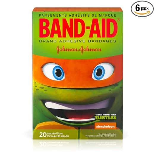 6 boxes Teenage Mutant Ninja Turtles Band-Aids $6.56 shipped