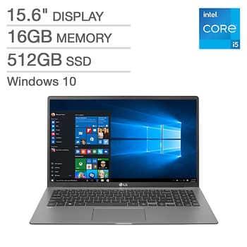 "LG gram 15.6"" Laptop $799.99 11th Gen Intel Core i5-1135G7� 16GB RAM 512GB NVME SSD Costco $799.99"