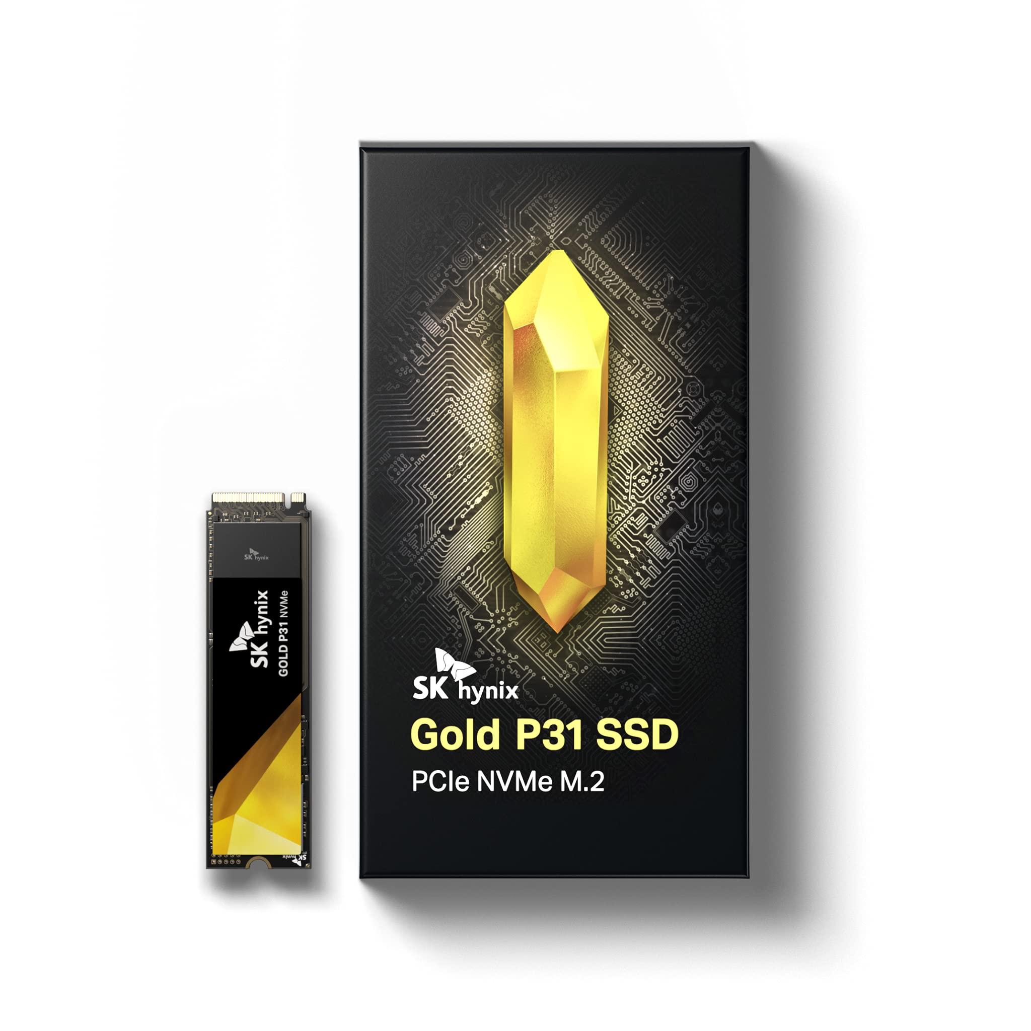 SK hynix Gold P31 2TB PCIe NVMe Gen3 M.2 2280 Internal SSD l Up to 3500MB/S l Compact M.2 SSD $245 Amazon $245