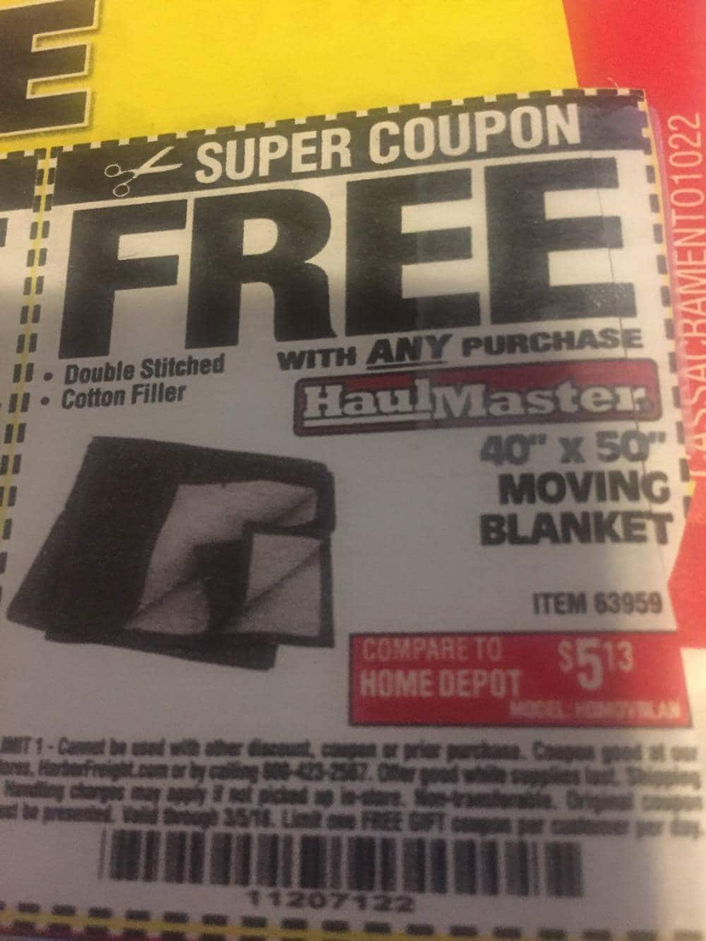 Practically Free At Harbor Freight Moving Blanket Microfiber