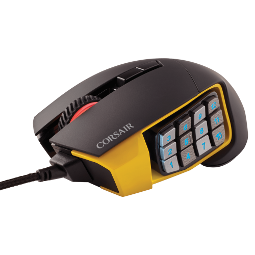 CORSAIR - Scimitar PRO RGB USB Optical Gaming Mouse - Yellow $50