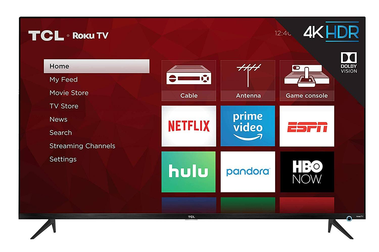 "TCL 65"" Class 5-Series 4K UHD Dolby Vision HDR Roku Smart TV - 65S525 $499"