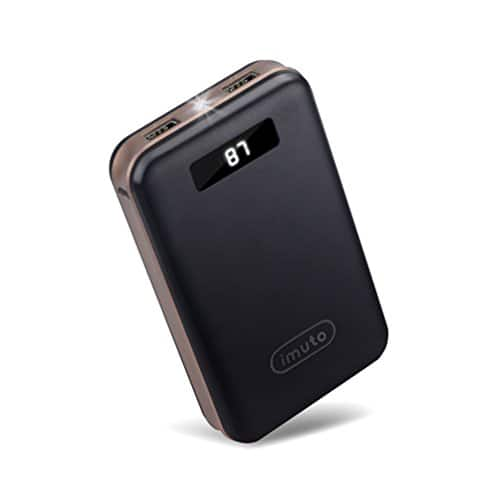 iMuto 20000mAh Portable Charger Compact Power Bank External Battery Pack with LED Digital Display and Smart Charge @ $17.99!
