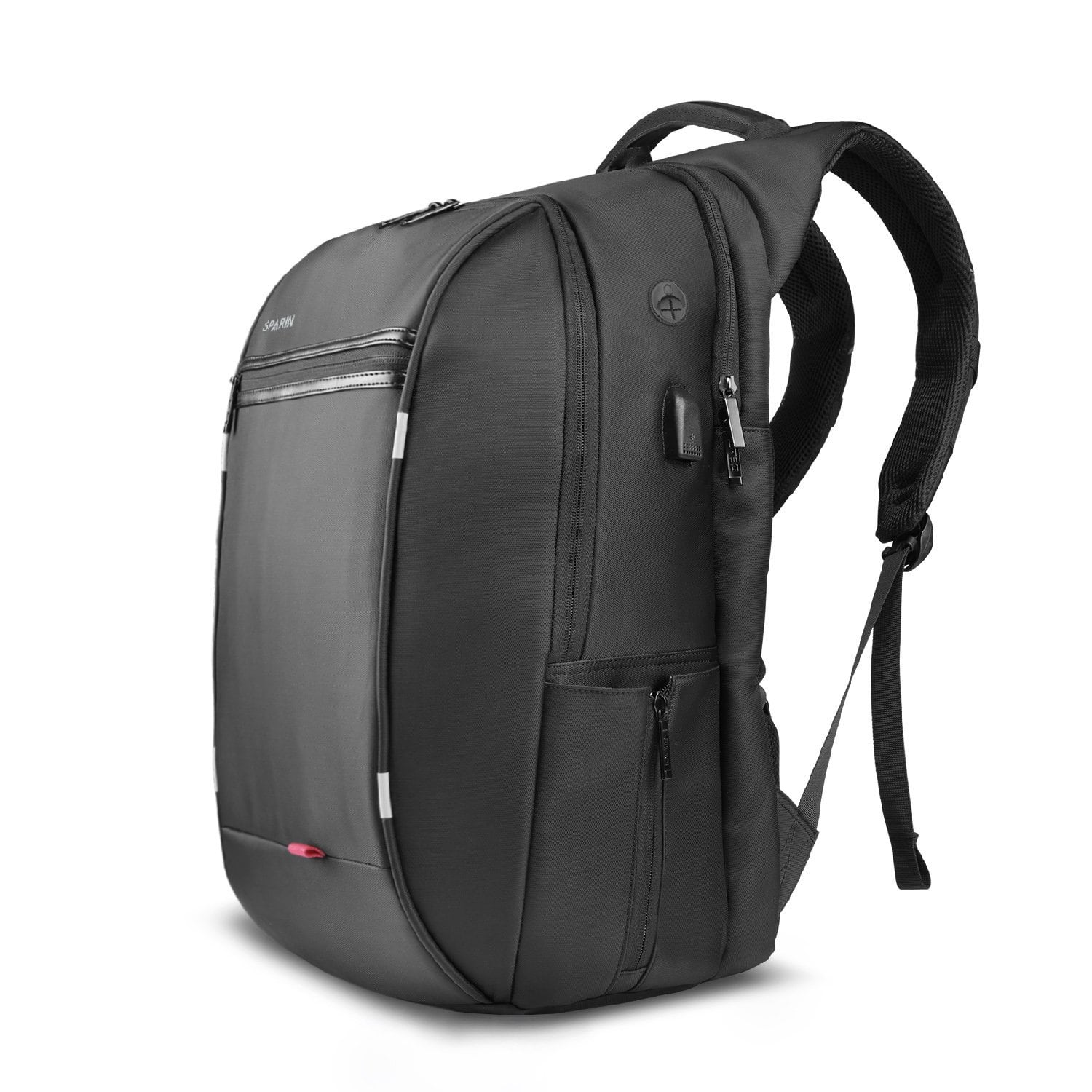 SPARIN Laptop Backpack, For Up to 17.3-Inch Laptops / USB Charging Port / Anti Thief College Shoulder Backpack Business Laptop Backpack, Black $12.99