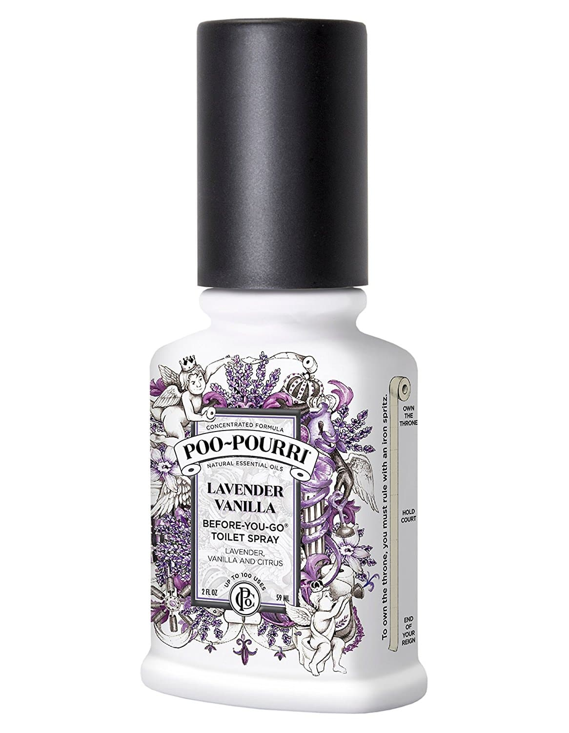 Poo-Pourri Before-You-Go Toilet Spray 4-Ounce Bottle, Lavender Vanilla Scent- Amazon add-on Item $7.69