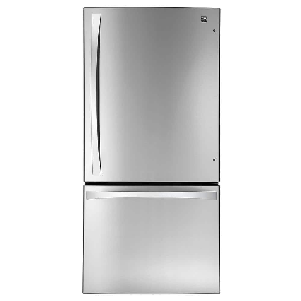 Kenmore Elite 79043 24 1 Cu Ft Bottom Freezer Refrigerator Stainless Steel 1100
