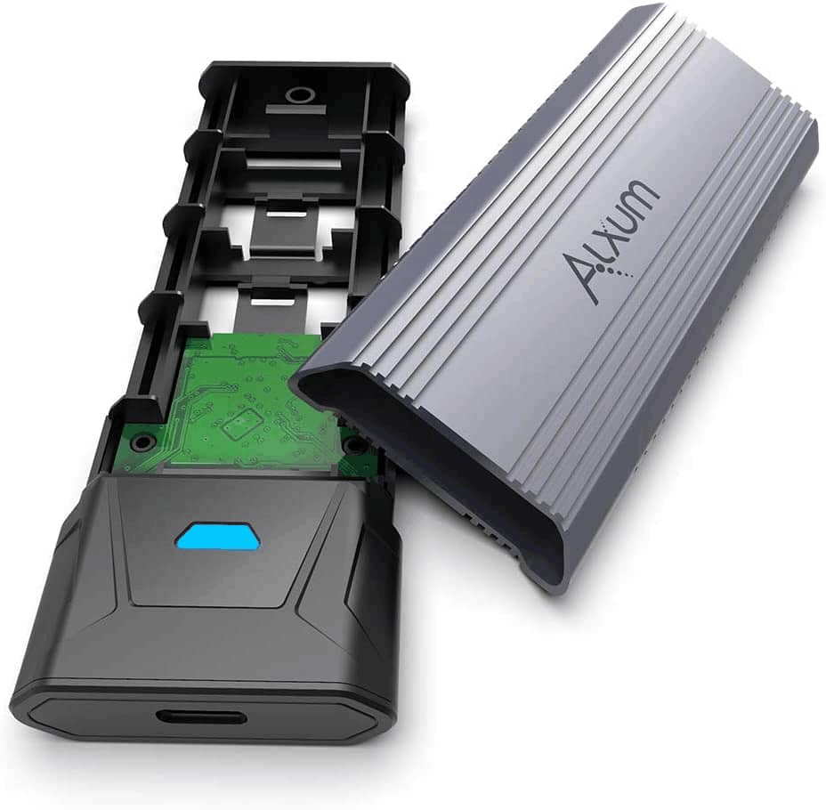 Alxum M.2 SSD Enclosure support both M.2 NVMe & SATA Solid State Drive; Tool-Free $29.99, Original $44.99