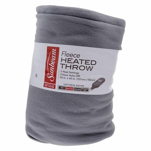 Sunbeam Heated Fleece Throw - $15 at Walmart B&M only YMMV