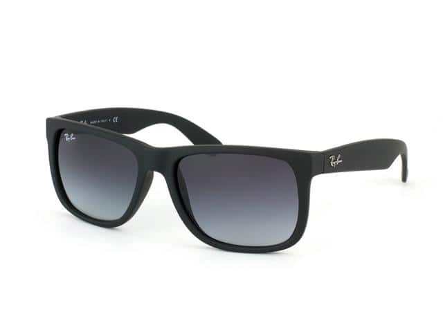 Ray Ban RB4165 Justin Sunglasses - Rubber Black Frame / Gray Gradient Lenses 601/8G - Size 54-16 for 59.99 Free Shipping