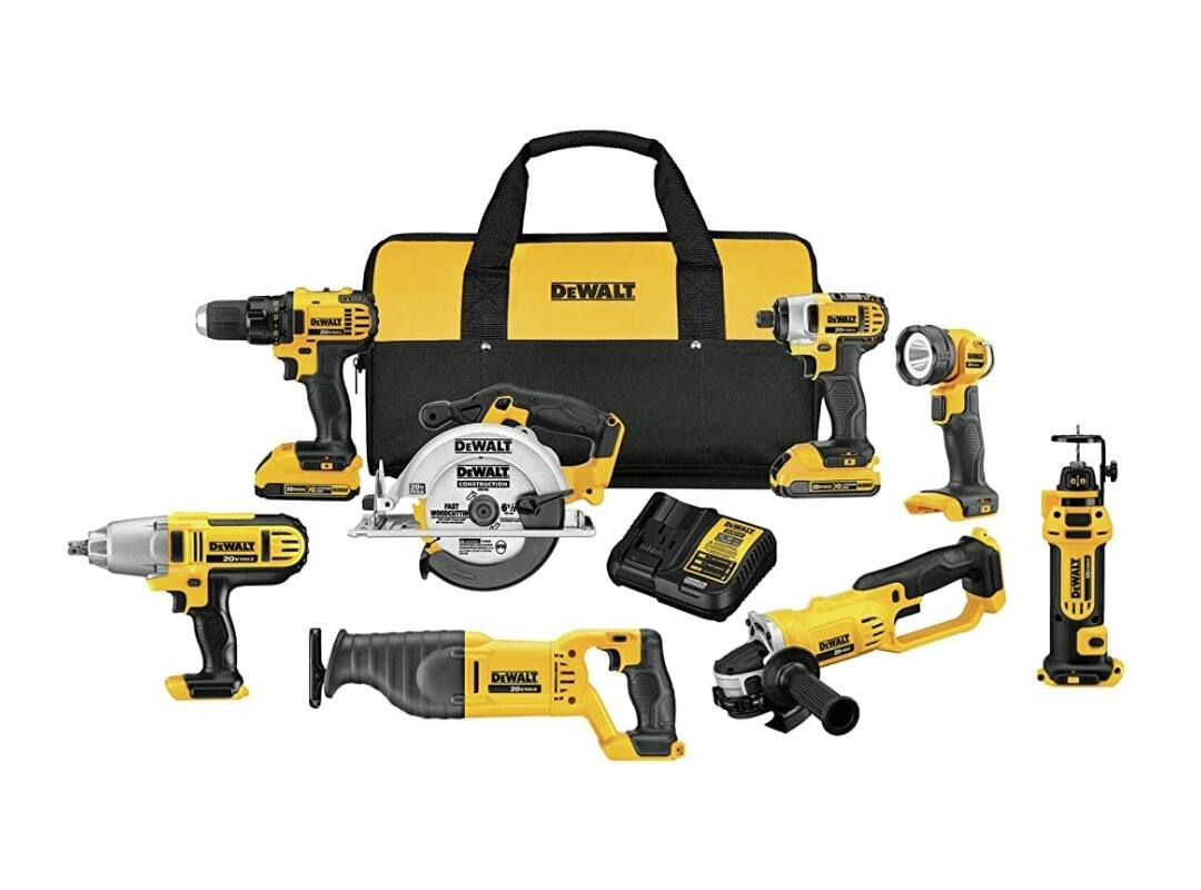 Amazon Daily Deal - Dewalt 20V MAX drill combo 8 tool $479.99