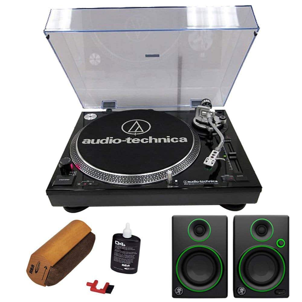 Audio-Technica AT-LP120 Professional Stereo Turntable w/ USB with Record Cleaning Fluid and Mackie Creative Reference Multimedia Monitors (Pair) $328.00 $327.98