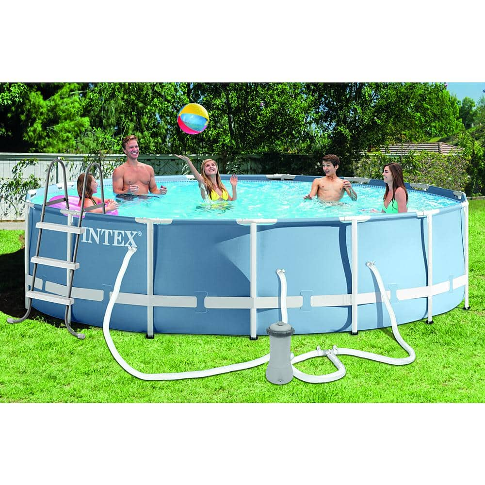 "Intex 15' x 42"" Pool w/ ladder, filter, pump, ground cloth, cover $199.99"