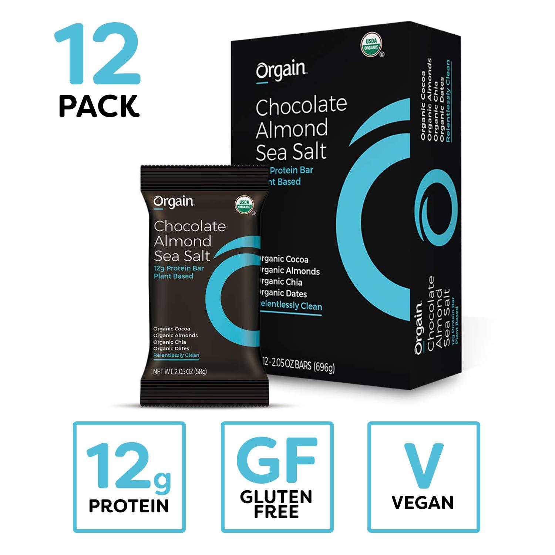 12 ct. Orgain Simple Organic Protein Bars, Chocolate Almond Sea Salt $11.23