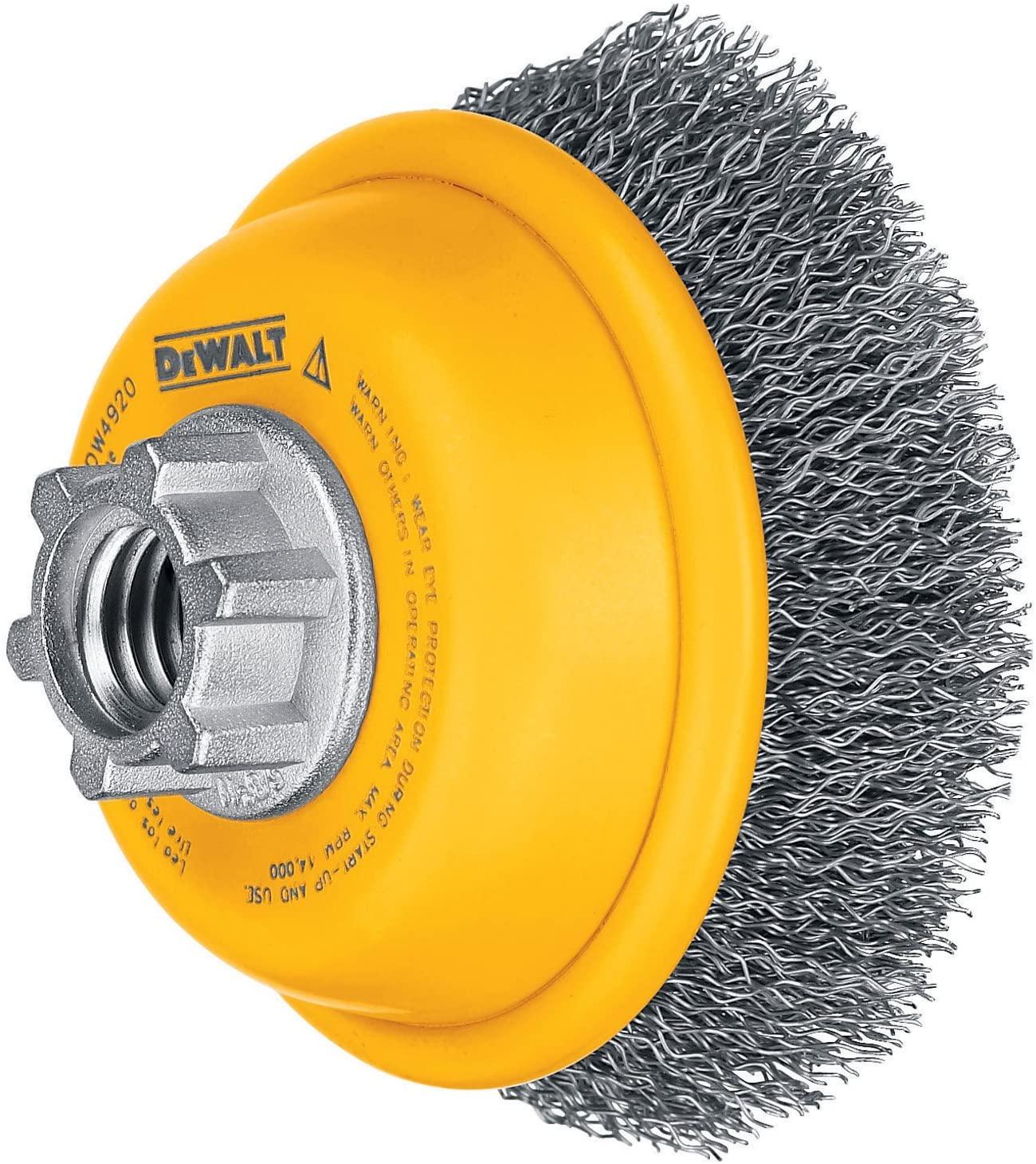 Amazon.com: DEWALT Wire Cup Brush, Crimped, 3-Inch (DW4920) : $5.42