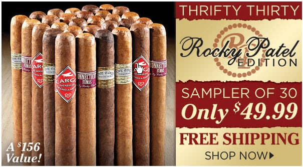 Cigar.com: Rocky Patel Sampler - $49.99 for 30 Cigars FS