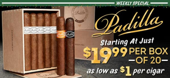 CI.com: 20 Padilla Fumas Cigars for Either $19.99 or $24.99 a Box