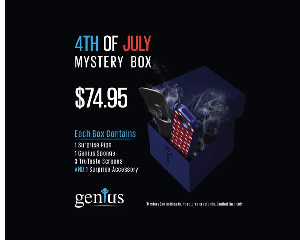 Genius Pipe 4th Of July Mystery Box $74.95