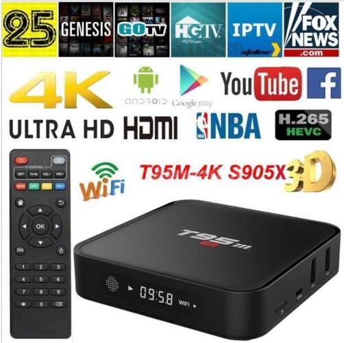 T95M S905X Android 6.0 Smart 4K TV Box Quad Core Wifi LAN 64 bit H.265 Mini PC $34.88