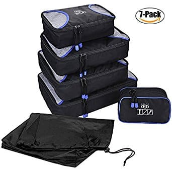 7 Set Coofit Travel Luggage Packing Organizers Cubes at $18.98 AC + FS With Amazon Prime $18.98