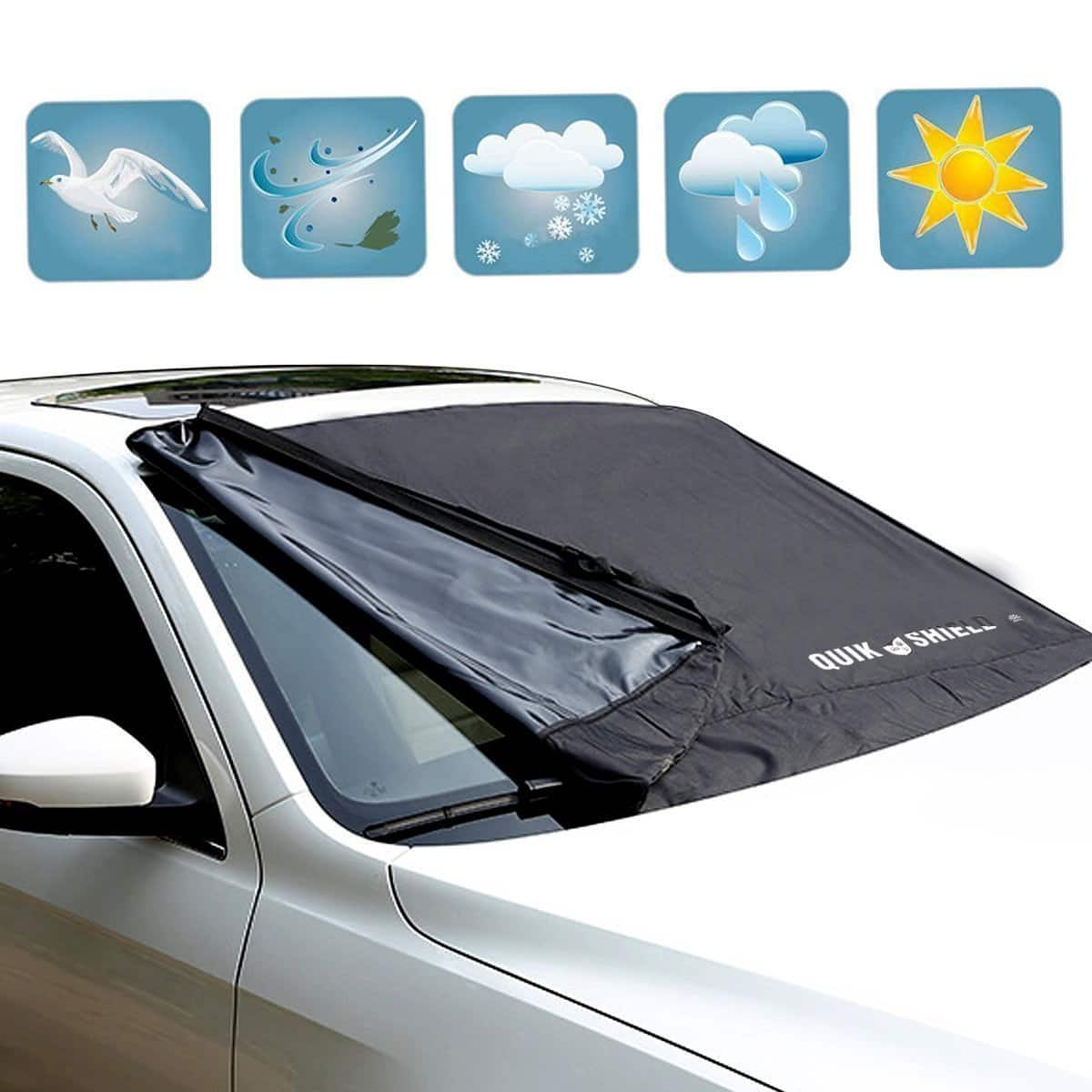 Windshield Snow Covers Oxford Cloth Windshield Sun Snow Cover $19.96 AC+ FS With Prime