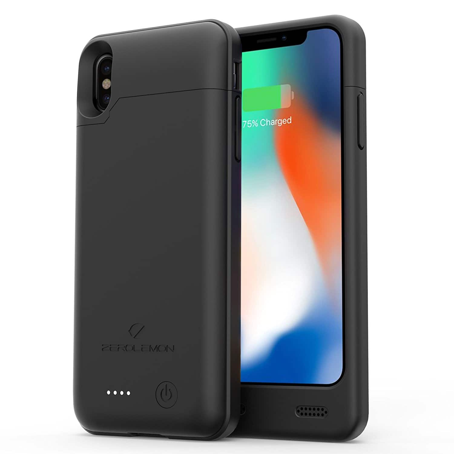 iPhone X 4000mAh Slim Juicer Extended Battery Rechargeable Case for $23.99 @Amazon AC+FS