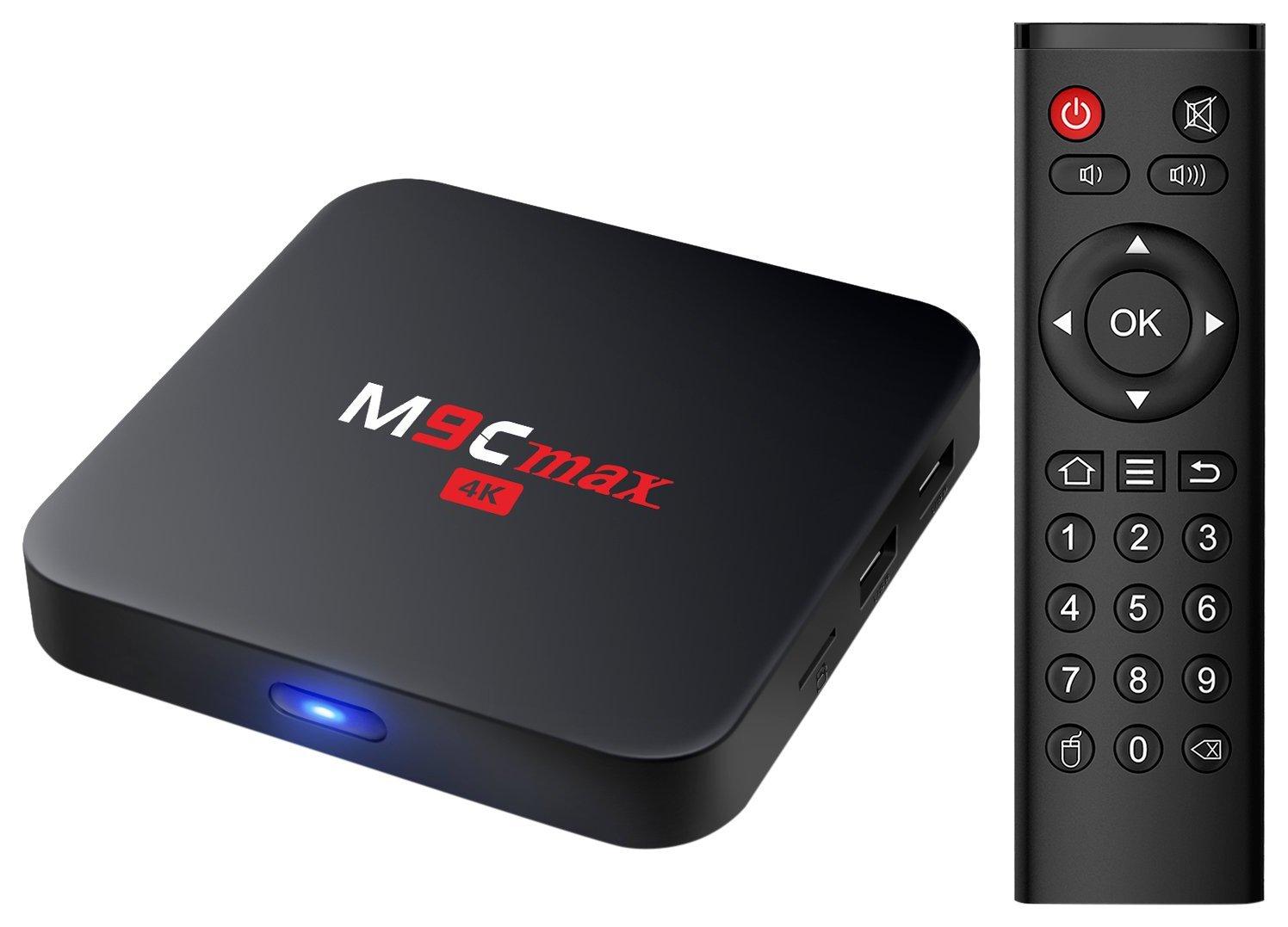 Bqeel M9C max Android 6.0 Marshmallow Amlogic S905X Chipset [2G DDR3/16G eMMC] 4K android tv box at $31.99 @Amazon