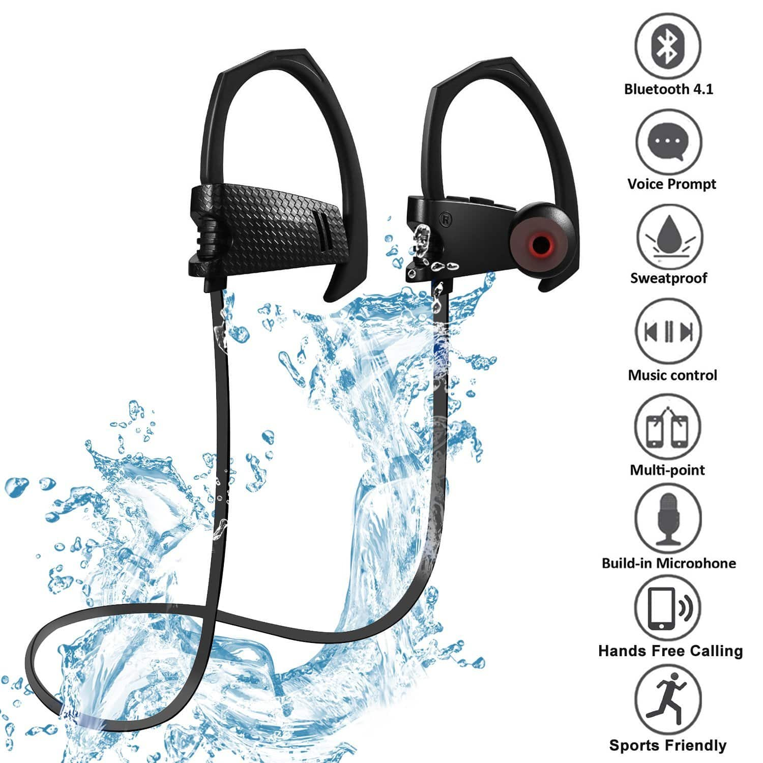 Wireless Bluetooth 4.1 Noise Cancelling Headphones Bulit-in Mic $14.99 AC+ Free Shipping @Amazon