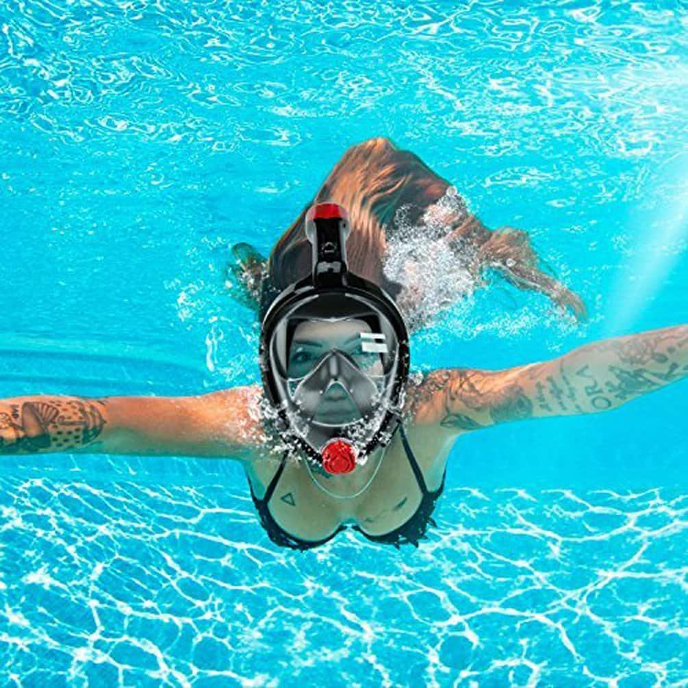 Anti-Fog and Anti-Leak Design 180° Full Face Snorkel Mask sale for $29.99 AC+FS With Prime.