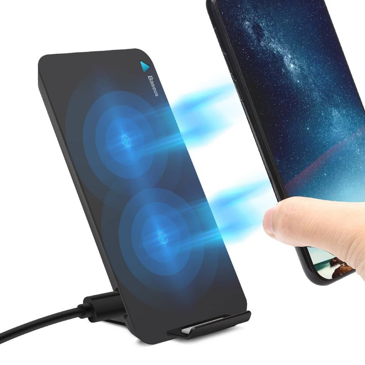 Fast Qi Wireless Charger Pad Stand at $15.39 AC+FS With Prime.