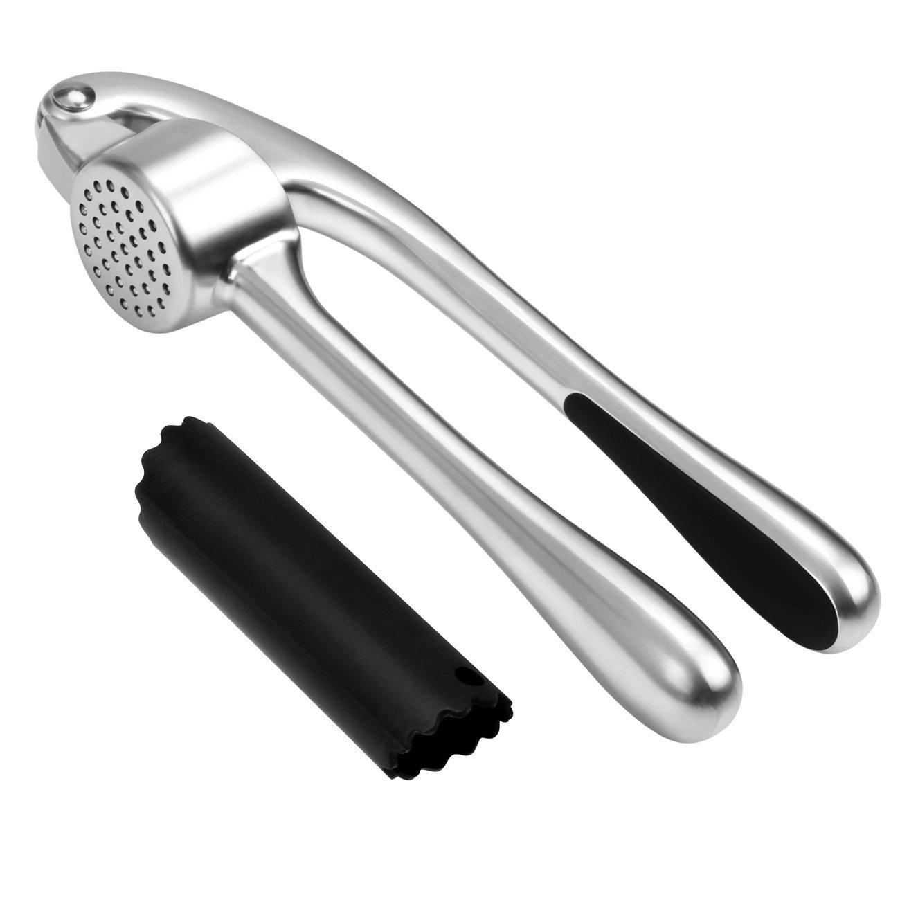 Garlic Press,Heavy Duty Garlic Press Peeler Set with Silicone Tube Roller @$6.99 AC+FS With Amazon Prime