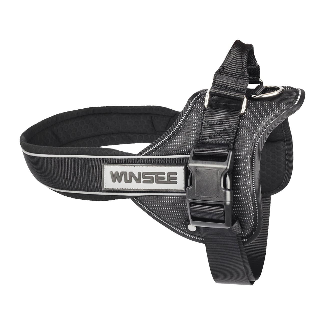 No Pull Dog Vest Harness Soft Reflective Harness with Handle Size L (Black) $9.99 @Amazon AC+FS