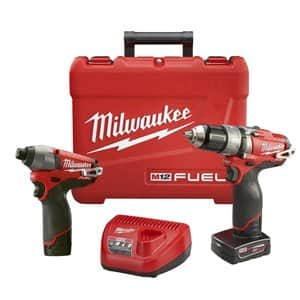 Milwaukee M12 Fuel hammer drill / impact driver combo plus extra XC 4.0Ah battery - $209, free shipping