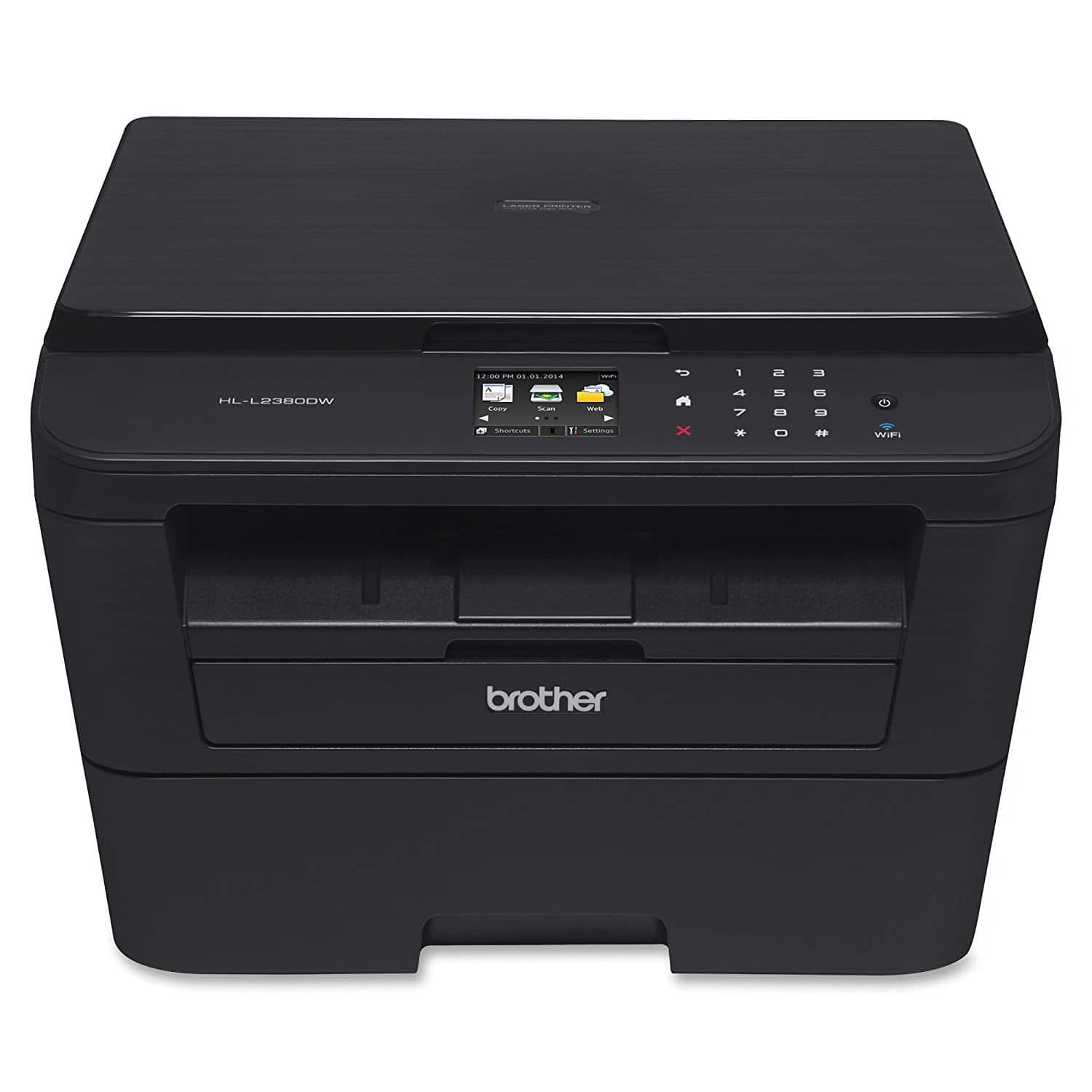 Brother HL-L2380DW Wireless Monochrome Laser Printer $91.99