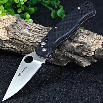 Ganzo G729 (black) folding pocket knife (clone of Spyderco Paramilitary 2 w/ added axis lock mechanism) - Gearbest - $14.49 + $1.28 (shipping)