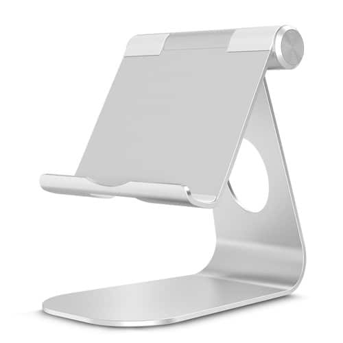 OMOTON all-aluminum adjustable stand.. good for: phones, tablets, small laptops, etc $11.4
