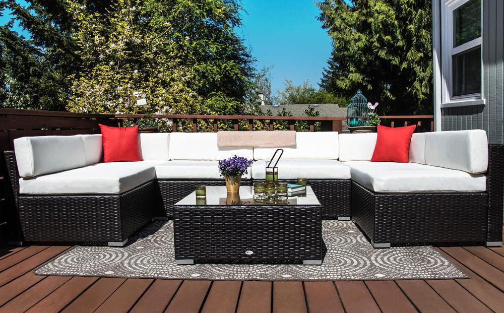 7pc Rattan Wicker Patio Furniture 459 Ebay Slickdeals Net
