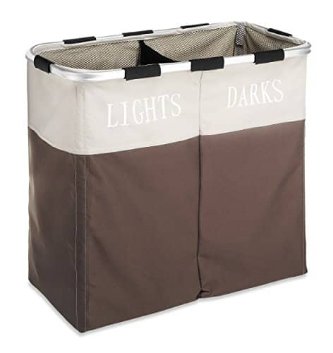 Whitmor Laundry Hamper, 2-Section, Java Free Ship with Prime $13.59