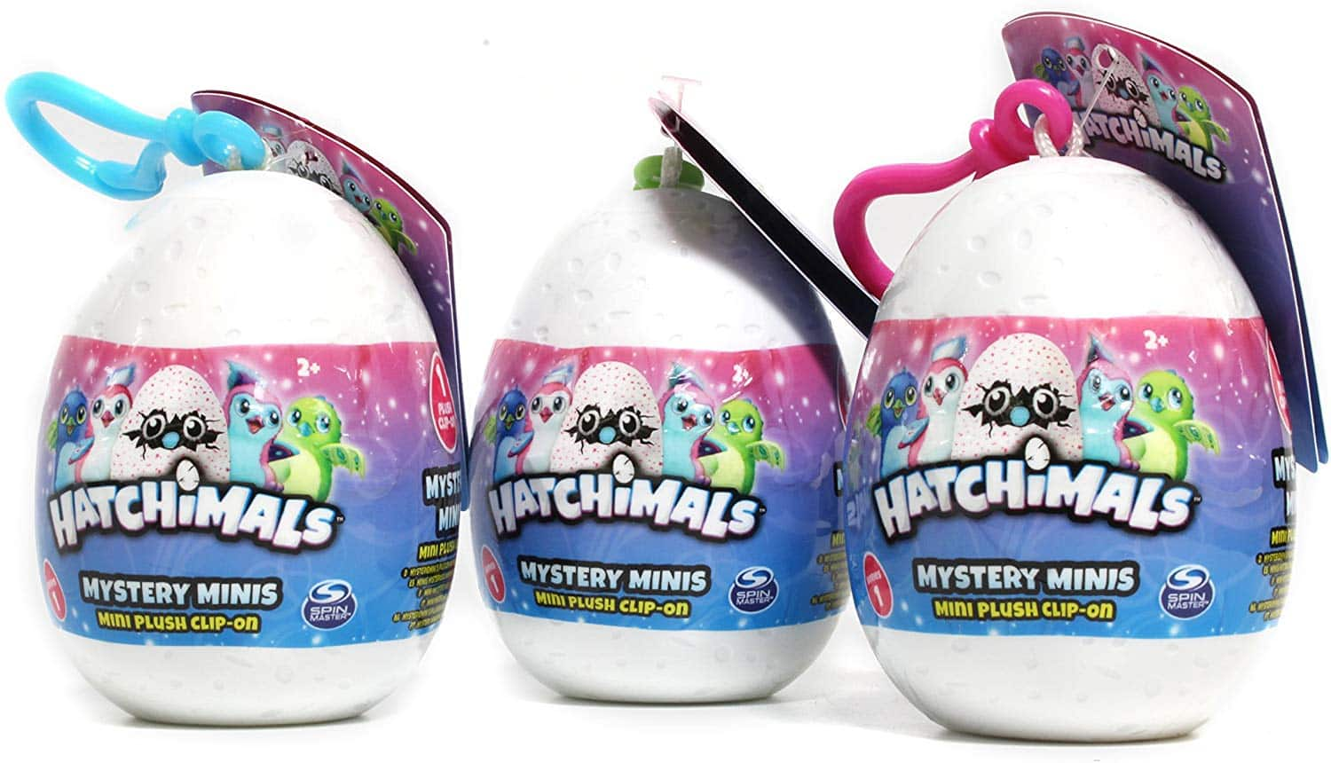 """Hatchimals 3 pack 2.5"""" backpack clip $6.41 free ship with prime"""