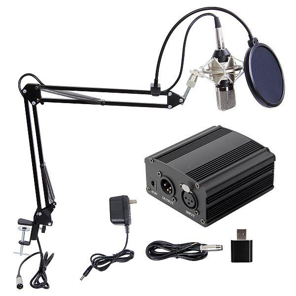 Professional Condenser Microphone XLR to 3.5mm Podcasting Studio Recording Condenser $33.74AC