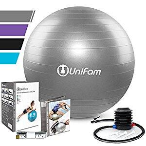 UNI FAM Extra Thick Exercise Stability Fitness Ball w/ Hand Pump - Amazon $10.79 AC