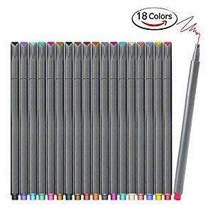 Bullet Journal Planner Markers (18 Colors, Fine Tip) - Amazon $5.92 AC