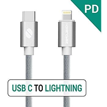 ZeroLemon Cables - Lightning to USB-C PD Cable($6.89 AC), 10ft Mfi Lightning Cable ($10.70 AC) - on Amazon