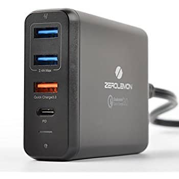 ZeroLemon 75W 4-Ports USB-C PD Desktop Charger w/ Quick Charge 3.0 - Amazon $39 AC