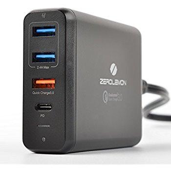 ZeroLemon 75W USB Desktop Charger w/ QC3.0 and PD Ports - Amazon $35.99 AC