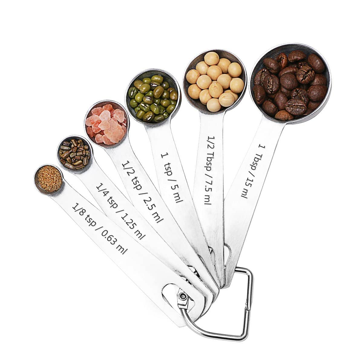 SveBake Stainless Steel Measuring Spoons for Dry & Liquid Ingredients, Set of 6 for $5.95 + FS w/ Prime