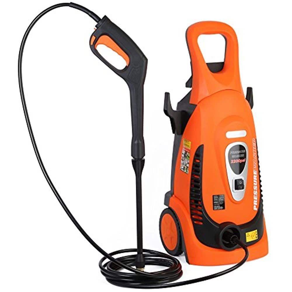 Ivation Electric Pressure Washer 2200 PSI 1.8 GPM with Power Hose Nozzle Gun and Turbo Wand and Built in Soap Dispenser - $120