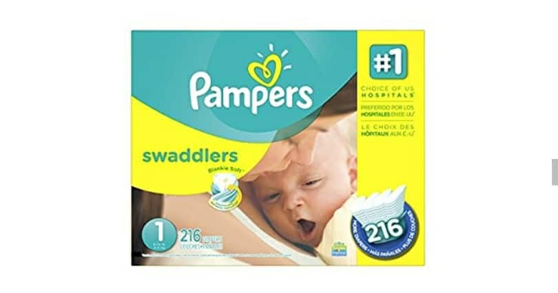 Amazon Prime Members w/ Amazon Family): 216-Count Pampers Swaddlers Diapers (Size 1) for $28.31 ($0.13/count)