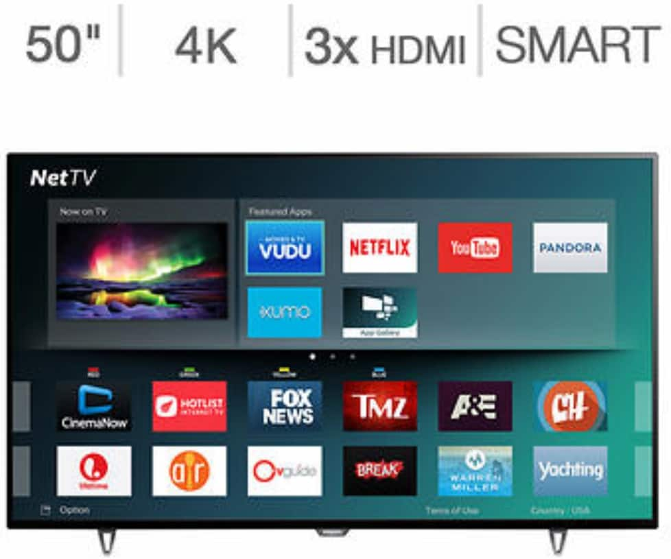 "Philips 50"" Class (49.5"" Diag.) 4K Ultra HD LED LCD TV $399.99"