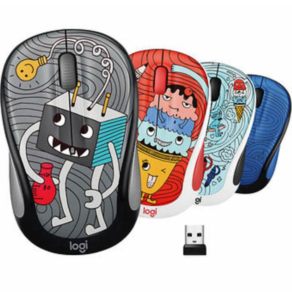 Logitech M325c Wireless Mouse Doodle Collection 4-pack - $29.99