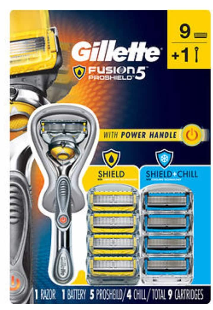 Gillette Fusion 5 Proshield Power Razor with 9 Cartridges - $24.97 @Costco